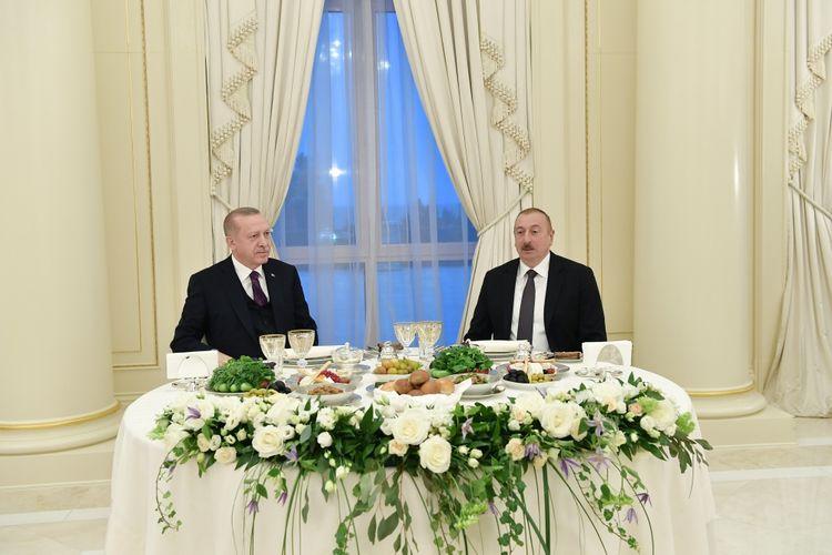 President Ilham Aliyev hosted reception in honor of Turkish President Recep Tayyip Erdogan