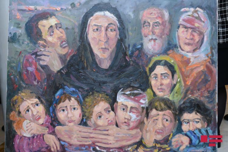 В МИД по случаю 28-й годовщины Ходжалинского геноцида организована выставка картин