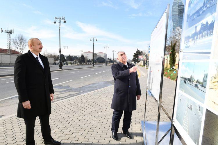 Prezident İlham Əliyev Bakıda yeraltı piyada keçidinin açılışında iştirak edib - YENİLƏNİB