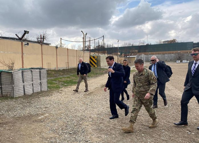 Pentagon chief lands in Afghanistan ahead of Taliban accord signing