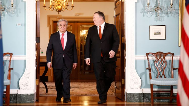 Pompeo and Guterres discussed issues of Venezuela and the Middle East