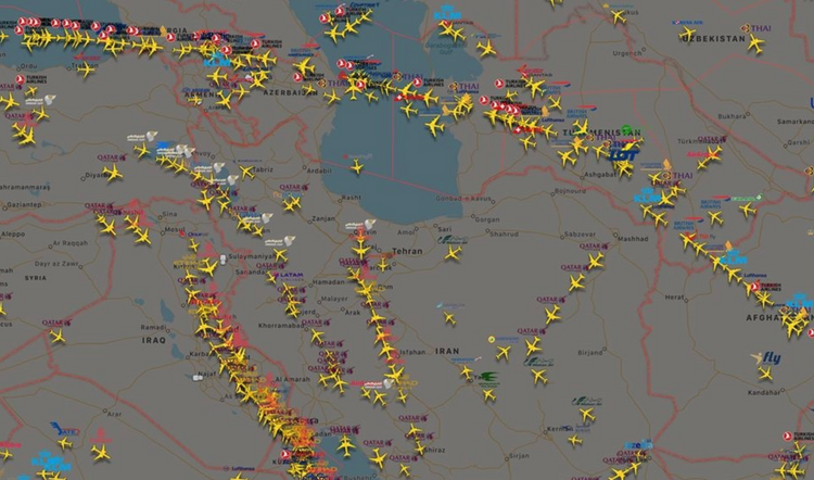 Some airlines start to use Azerbaijan airspace instead of Iran