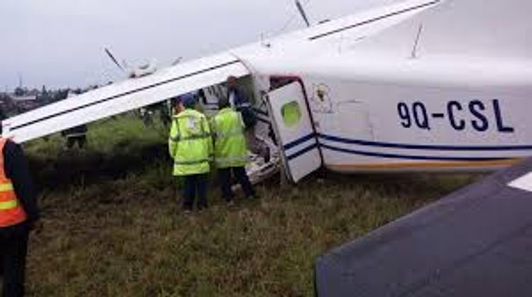 South African military aircraft crash-lands at Goma airport in Congo