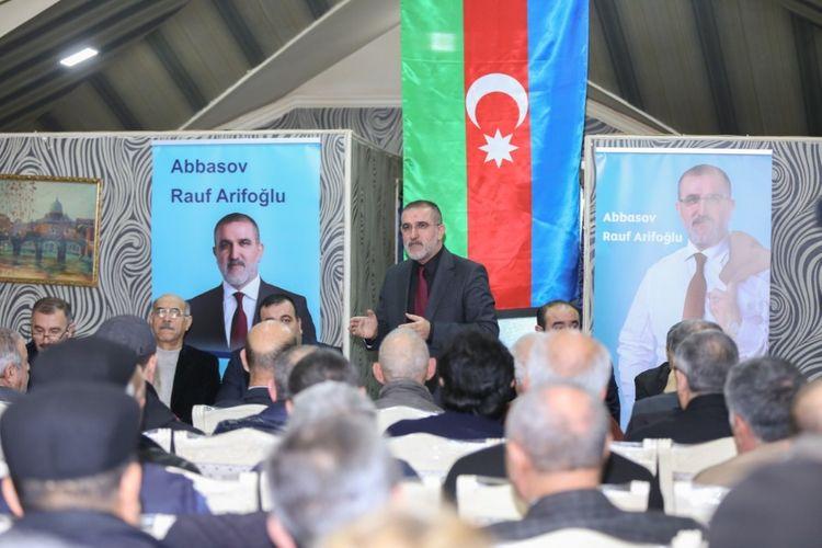 Deputatlığa namizəd Rauf Arifoğlunun seçki qərargahının geniştərkibli iclası keçirilib - FOTO