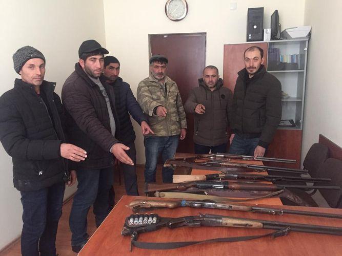 В Дашкесане задержаны 6 браконьеров