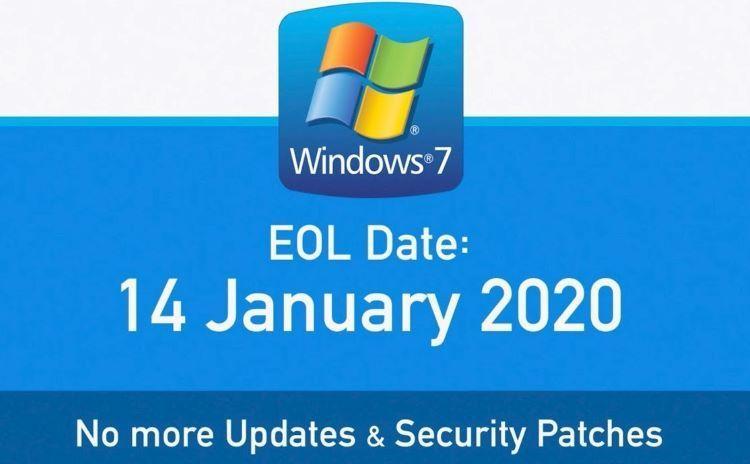 Microsoft stops Windows 7 support