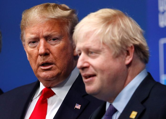 """Trump agrees with British PM Johnson on a """"Trump deal"""" for Iran"""