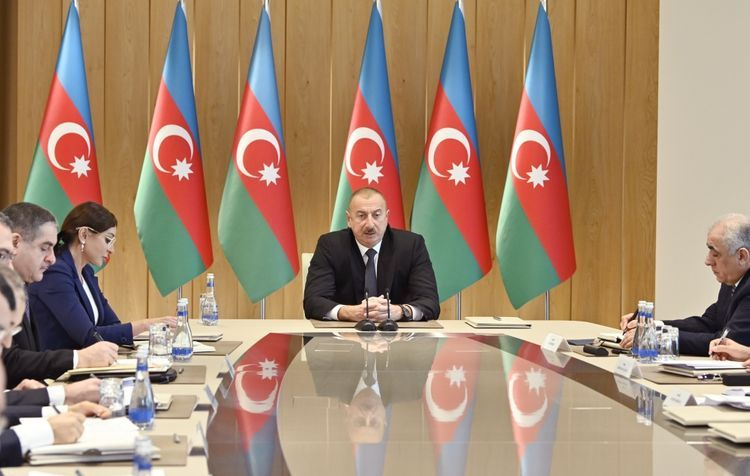 """Azerbaijani President: """"Very positive results were achieved in the economic sphere last year"""""""