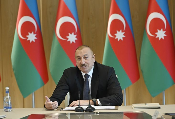 """President Ilham Aiyev: """"Last year foreign tourists spent 1.260 billion manats in Azerbaijan through bank cards alone"""""""