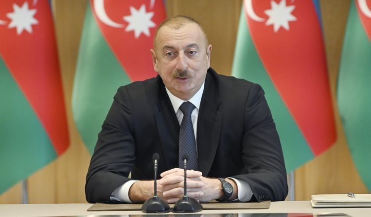"""Azerbaijani President: """"No country can become a transit country without cooperating with its neighbors"""""""