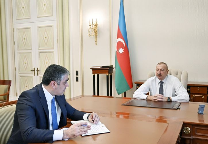 President Ilham Aliyev instructs minister to organize a modern taxi service