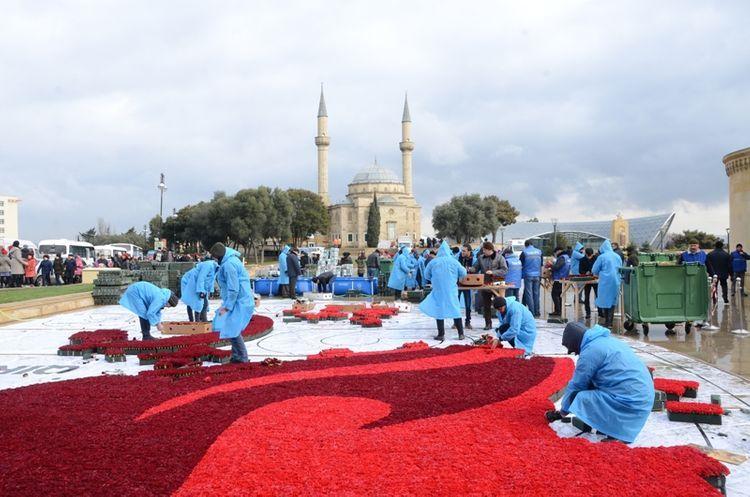 На Аллее шехидов начались подготовительные работы в связи с годовщиной трагедии 20 Января
