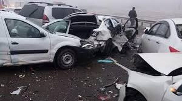 В России на трассе «Дон» столкнулись 34 автомобиля, есть погибшие и раненые  - ФОТО