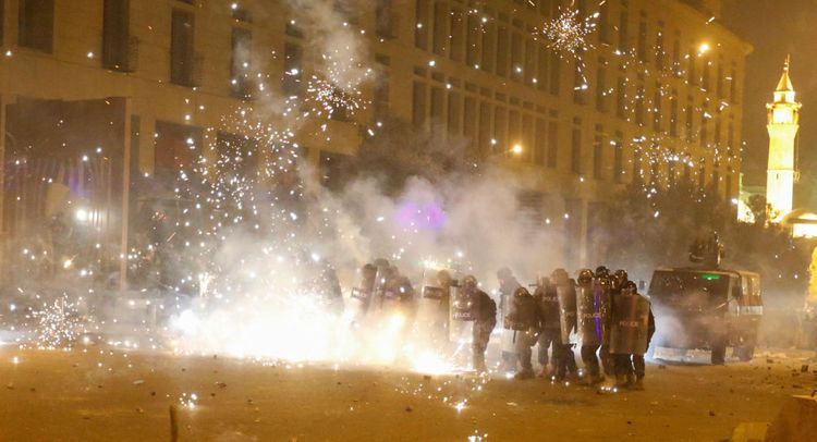 Lebanese security forces control situation in central Beirut after clashes with protesters