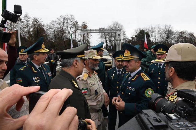 Elçin Quliyev İran Sərhəd Qoşunlarının komandanı ilə görüşüb - FOTO