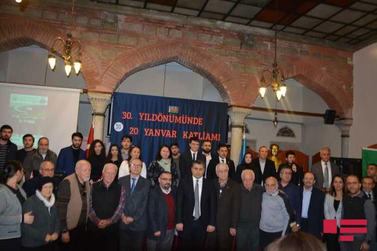 İstanbulda 20 Yanvar şəhidləri yad edilib - FOTO