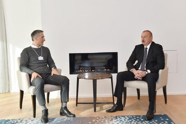"""Prezident İlham Əliyev """"Signify"""" şirkətinin baş icraçı direktoru ilə görüşüb"""