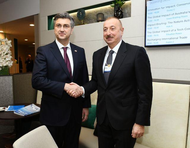 President Ilham Aliyev met with Croatian Prime Minister