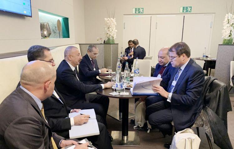 President Ilham Aliyev met with EBRD President in Davos