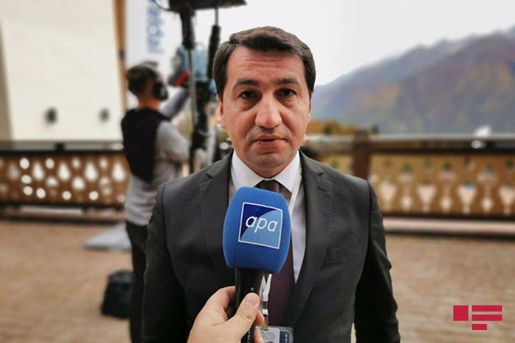 "Hikmet Hajiyev:""We have taken positive note about EU"