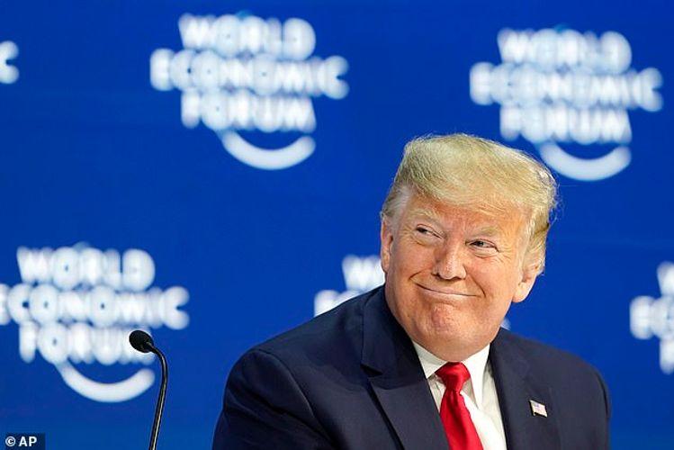 Trump touts tariffs, slams climate concern in Davos