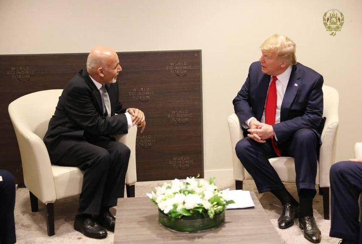 Donald Tramp Əfqanıstan Prezidenti ilə görüşüb