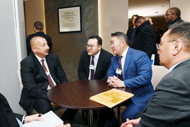 Azerbaijan and Mongolian Presidents met in Davos