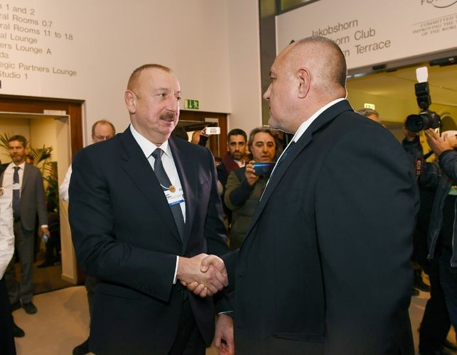 Состоялась встреча президентов Азербайджана и Польши в Давосе