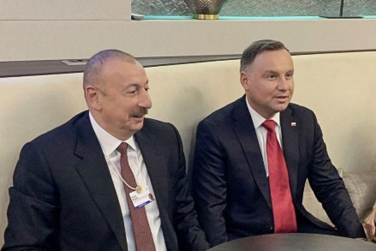 Presidents of Azerbaijan and Poland met in Davos