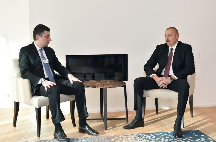 Azerbaijani President meets with Georgian Prime Minister in Davos