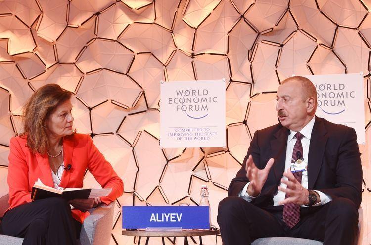 Ильхам Алиев принял участие в панели на тему «Стратегический взгляд: Евразия» Давосского ВЭФ - ФОТО - ОБНОВЛЕНО