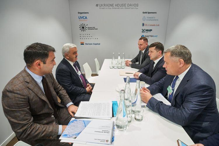 SOCAR President meets with Ukrainian President in Davos