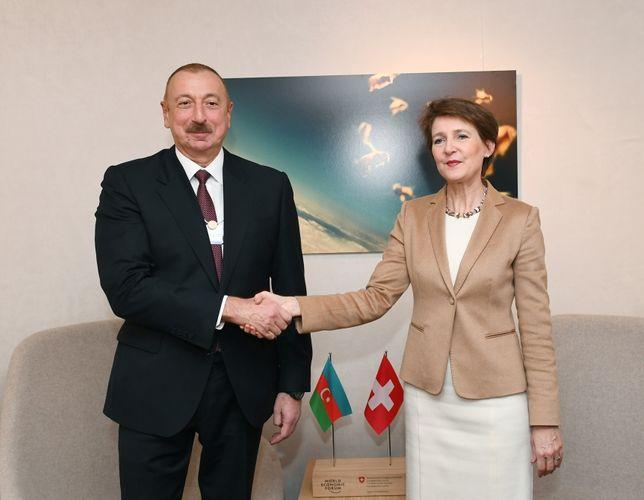 Президент Ильхам Алиев встретился с президентом Швейцарии - ОБНОВЛЕНО