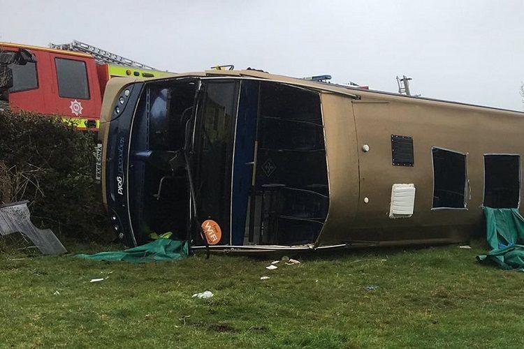 Kolumbiyada 2 avtobusun toqquşması nəticəsində 34 sərnişin xəsarət alıb