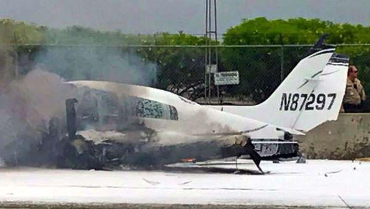 В США при крушении  самолета погибли четыре человека