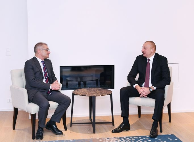 President Ilham Aliyev meets with head of P&G Europe