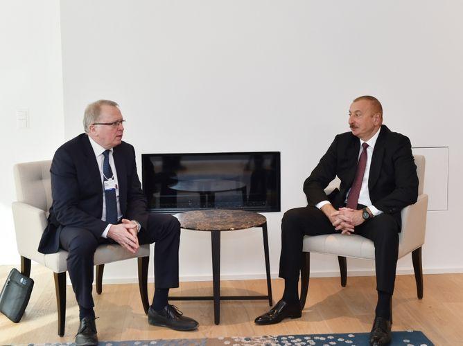 Президент Ильхам Алиев встретился с гендиректором компании «Equinor»