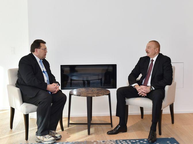 В Давосе прошла встреча президента Ильхама Алиева с мэром города Монтрё