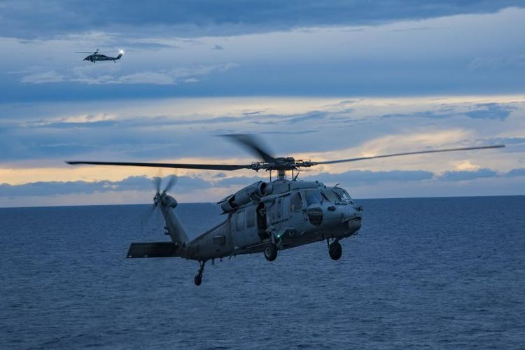 Two missing after U.S. Navy helicopter goes down in the Philippine Sea