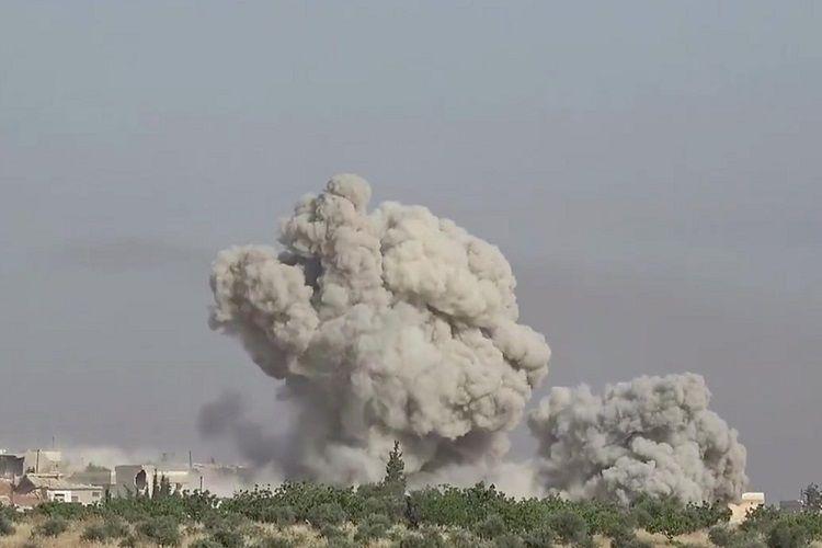 Suriya ordusu Hələbin qərbində silahlı qruplaşmaların mövqelərinə artilleriya zərbələri endirib