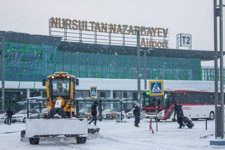 Из-за непогоды задержаны и отменены 25 рейсов в аэропорту Нур-Султана