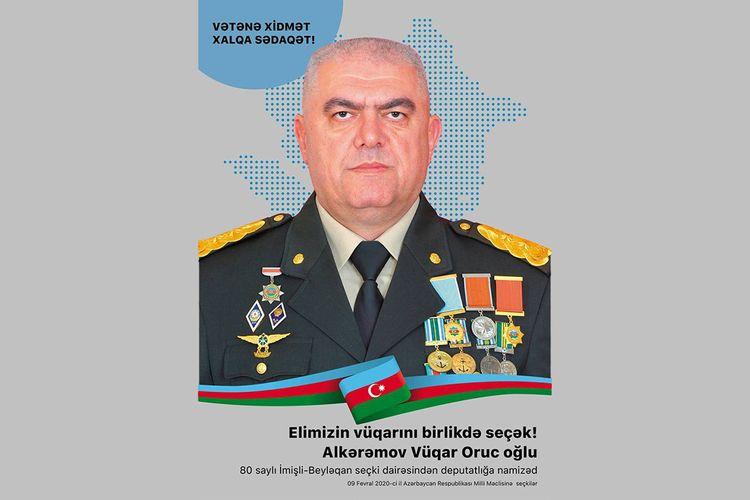 ® 80 saylı İmişli-Beyləqan seçki dairəsindən deputatlığa namizəd Alkərəmov Vüqar Oruc oğlu