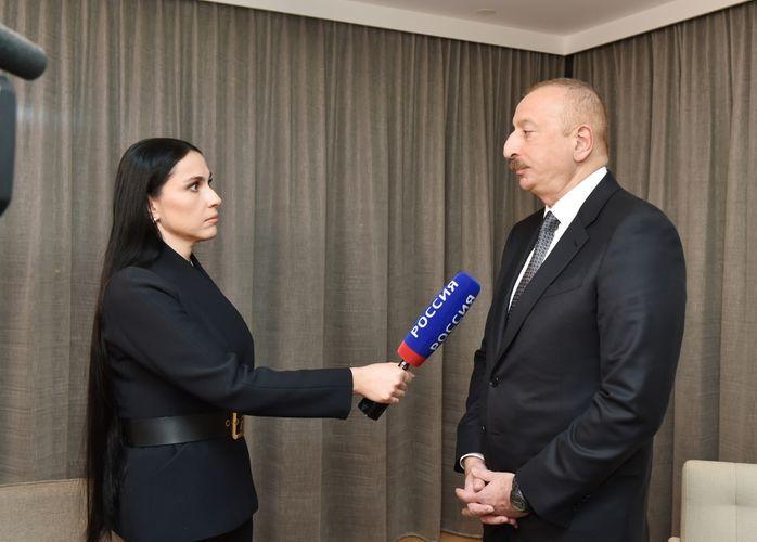 Президент Азербайджана дал интервью российскому телеканалу «Россия-24»