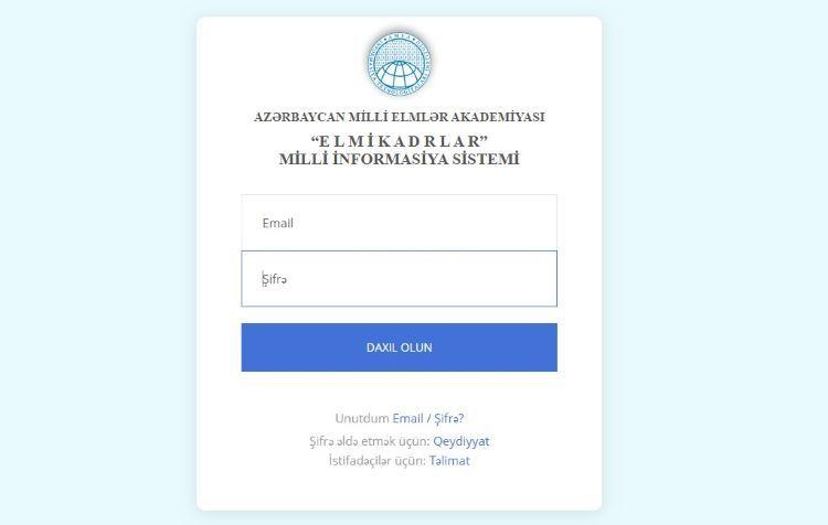 """Azərbaycanda """"Elmi kadrlar"""" milli informasiya sistemi istifadəyə verilir"""