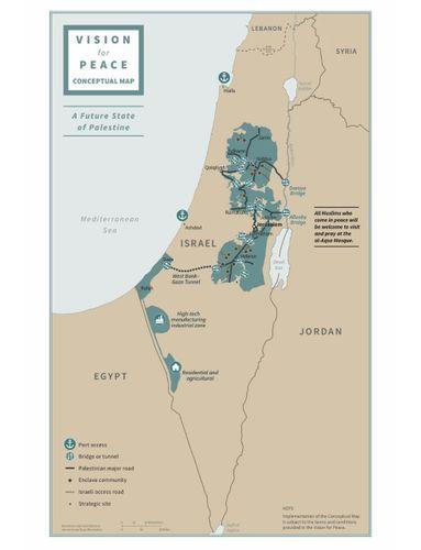 Tramp gələcək Fələstin dövlətinin xəritəsini paylaşıb - FOTO