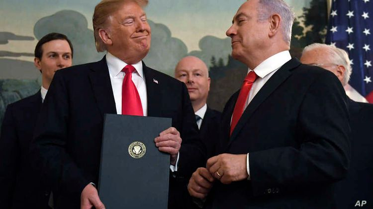 Trump shows map of Israel, Palestine as proposed under his Peace Plan - PHOTO