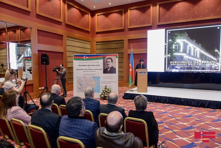 International conference dedicated to heritage of Mahammad Amin Rasulzade held