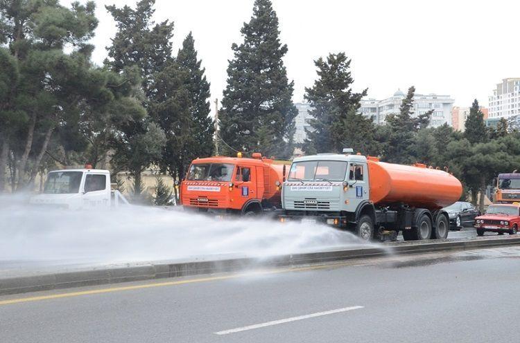 4 июня в Баку будут проведены дезинфекционные работы