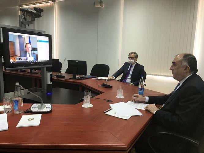 Azerbaijani FM and EU Commissioner hold virtual meeting