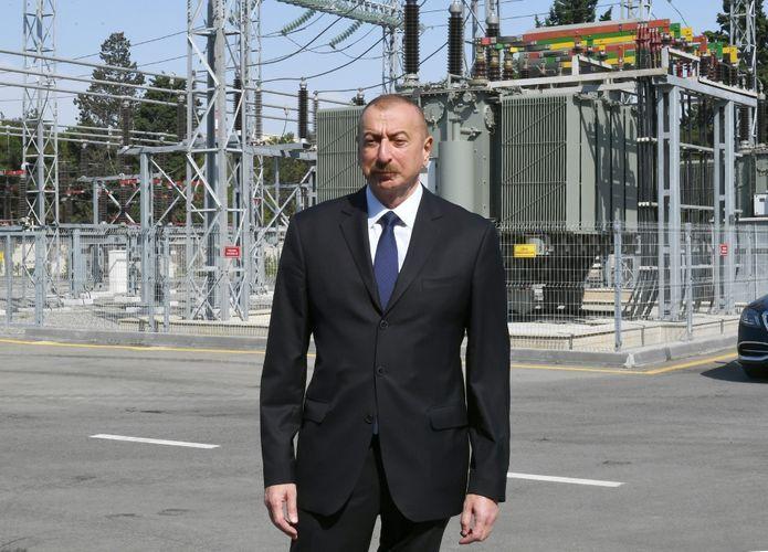 Президент Ильхам Алиев принял участие в открытии 110/35/10-киловаттной подстанции «8-й км» - <span class='red_color'>ОБНОВЛЕНО</span>